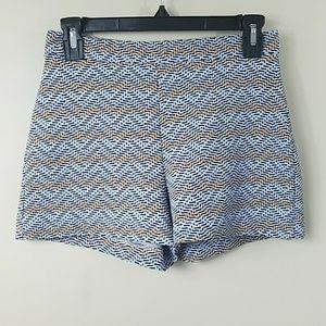 Zara Shorts - Zara Trafaluc Zig Zag Print High Waisted Shorts